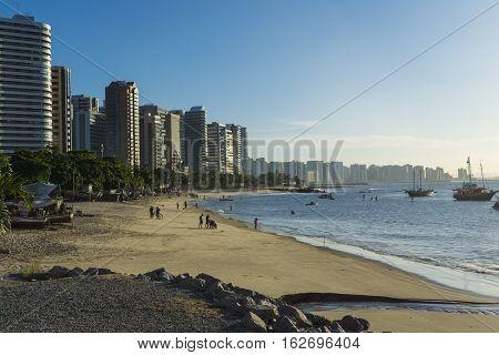 A view of Fortaleza city beach, Ceara, Brazil