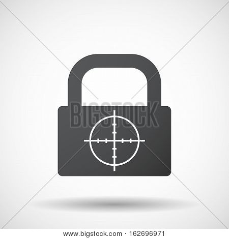 Isolated Lock Pad With A Crosshair