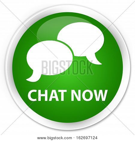 Chat Now Premium Green Round Button