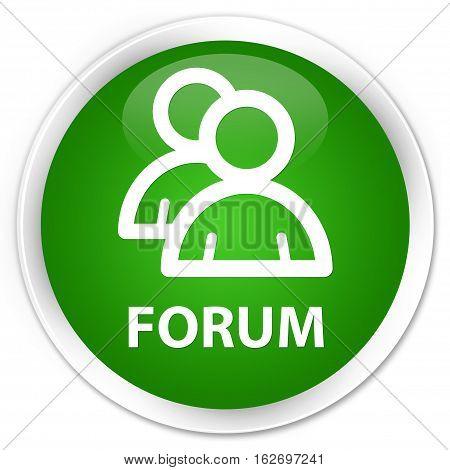 Forum (group Icon) Premium Green Round Button