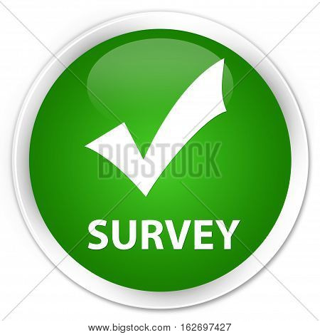 Survey (validate Icon) Premium Green Round Button