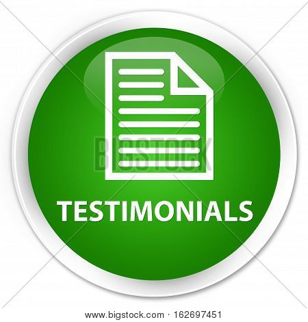 Testimonials (page Icon) Premium Green Round Button
