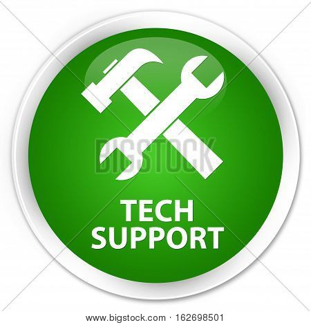 Tech Support (tools Icon) Premium Green Round Button