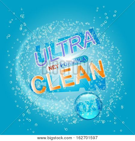 Package design template for laundry detergent. Vector illustration