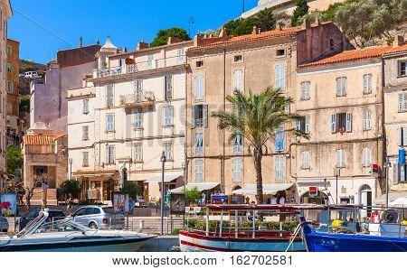 Coastal Streetview Of Bonifacio, Corsica
