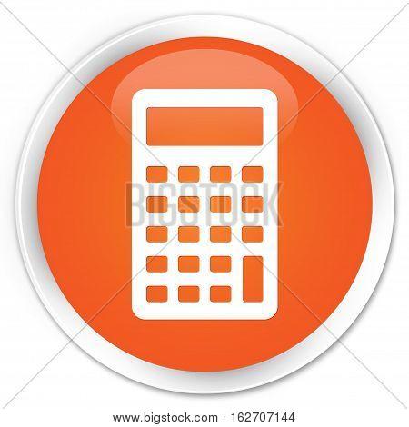 Calculator Icon Premium Orange Round Button