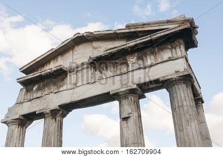 entrance of roman agora athens greece, σκ