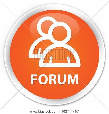 Forum (group Icon) Premium Orange Round Button