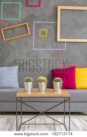 Coffee Table With Flowerpots