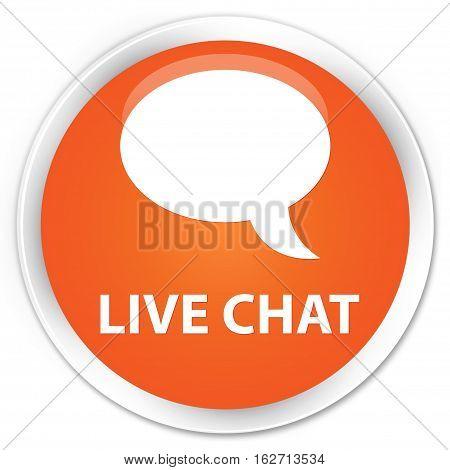 Live Chat Premium Orange Round Button