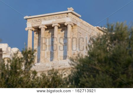 temple of athena nike propylaea of acropolis