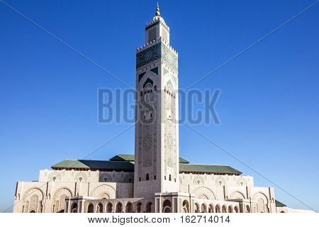Casablanca architecture Morocco. Mosque Hassan II building