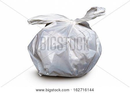 Rubbish Bin Made Of Plastic. Clipping Path
