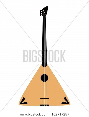 Balalaika icon isolated on white background. Musical instrument icon. Vector illustration.