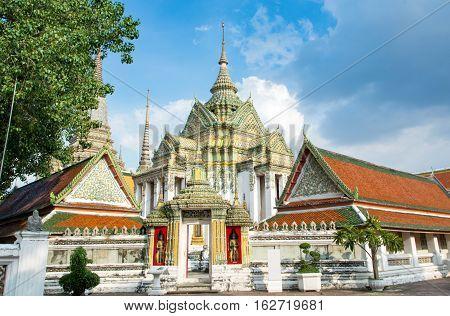 Bangkok, Thailand - October 14, 2016: View At The Wat Pho Temple