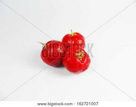 Red cherry on a white background,Red Cherries,Cherry selection