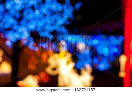 blury in purpose decoration christmas lights, holidays