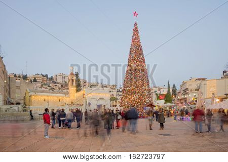 Christmas 2016 In Mary's Well Square, Nazareth