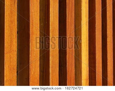 Wood Lath Wall background on horizontal planks