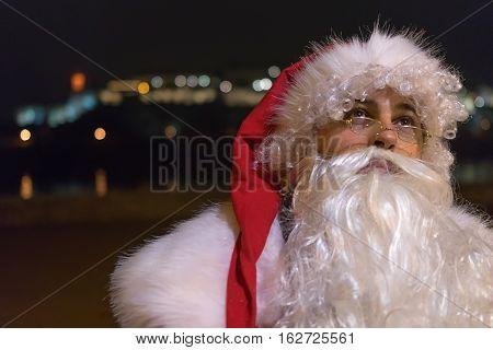 Santa Claus Magic Night Lights Magic Holidays