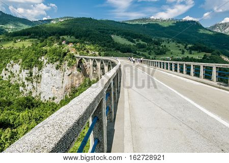 Tara River Canyon.Montenegro.04 June 2015. the bridge of Dzhurdzhevich over the Tara River Canyon.