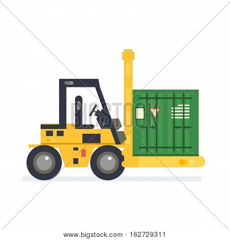 Forklift Truck Carrying
