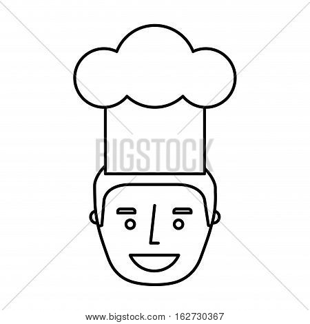 chef avatar character icon vector illustration design