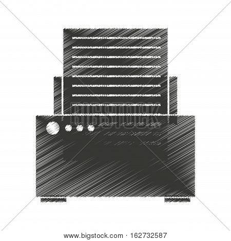 printer device isolated icon vector illustration design