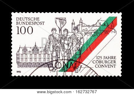 GERMANY - CIRCA 1993 : Cancelled postage stamp printed by Germany, that shows Convention Coburg.