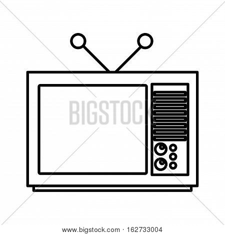 tv old isolated icon vector illustration design
