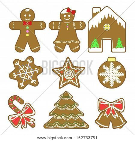 Set Of Different Gingerbreads