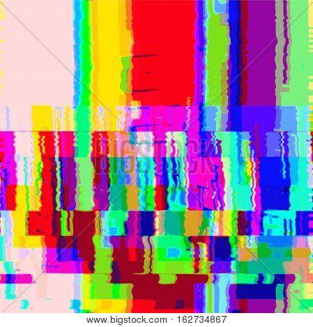 Vector Colorful Glitch Warp Background .