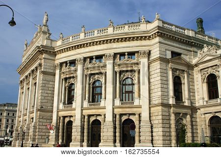 Vienna, Austria: aug 1. 2016 - Burgtheater (Court Theatre) the Austrian National Theatre in Vienna and one of the most important German language theatres in the world.