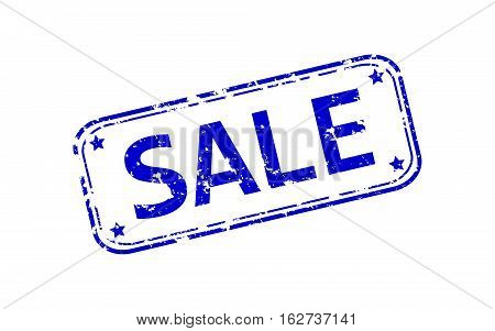 Rubber stamp with the word sale isolated from the background, vector illustration.