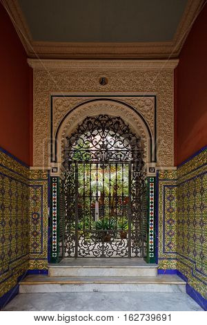 Doorway To Courtyard (patio) In Sevilla, Andalusia, Spain