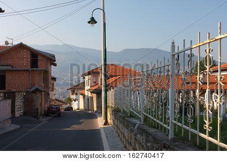 Cityscape View Of Sarajevo Street