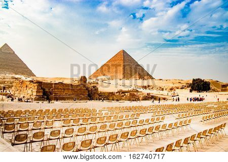 Nice Pyramids View in Giza, Egypt, Africa