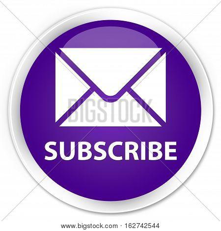 Subscribe (email Icon) Premium Purple Round Button