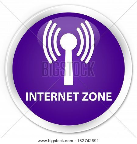 Internet Zone (wlan Network) Premium Purple Round Button