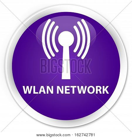 Wlan Network Premium Purple Round Button