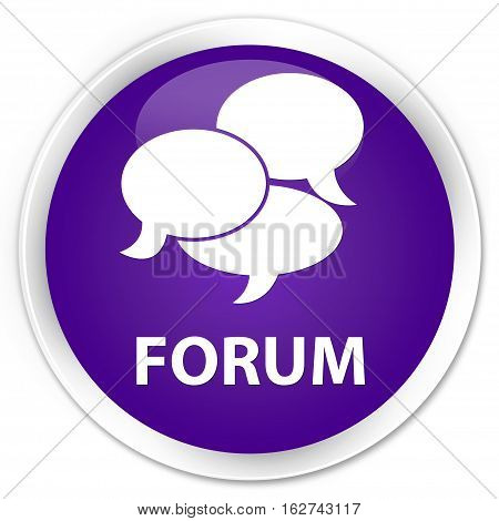 Forum (comments Icon) Premium Purple Round Button