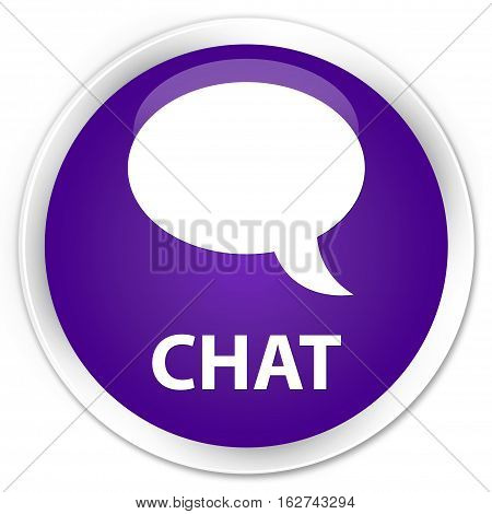Chat Premium Purple Round Button