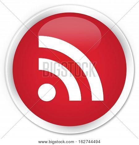 Rss Icon Premium Red Round Button