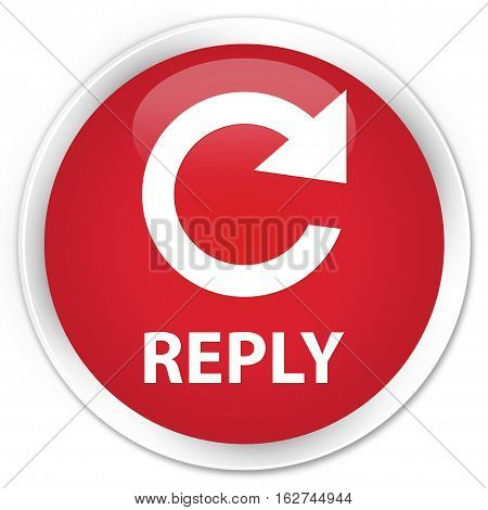 Reply (rotate Arrow Icon) Premium Red Round Button