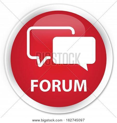Forum Premium Red Round Button