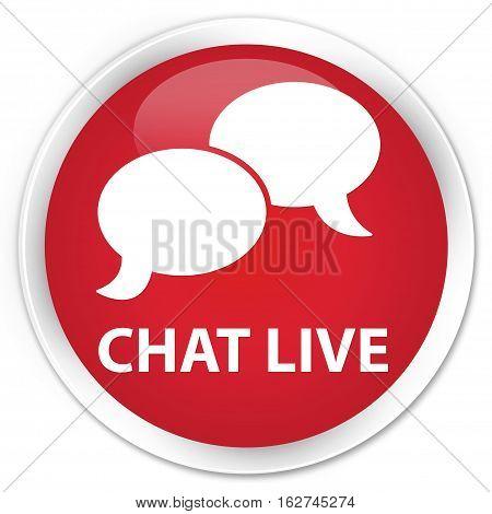Chat Live Premium Red Round Button