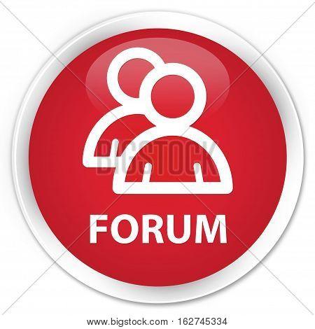 Forum (group Icon) Premium Red Round Button