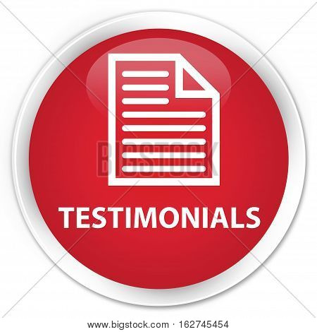 Testimonials (page Icon) Premium Red Round Button