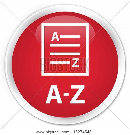 A-z (list Page Icon) Premium Red Round Button
