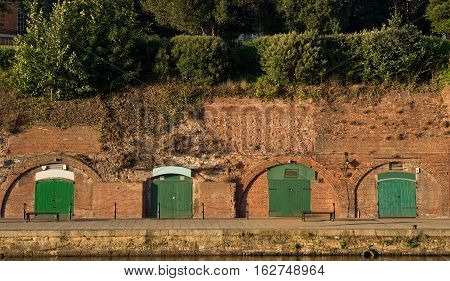 The cellars on the shore the river Exe. Exeter. England
